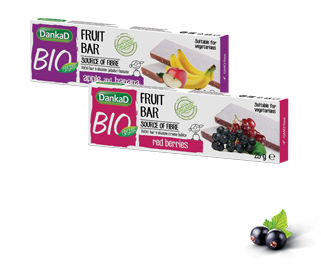 DankaD BIO Organic fruit bar apple and banana